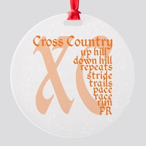 Cross Country XC orange Round Ornament